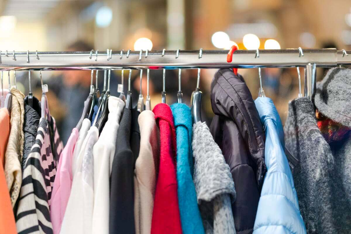 Rack of clothes for sale